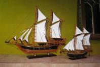 miniatur kapal pinisi unik